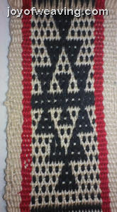 Navajo pattern inkle woven band
