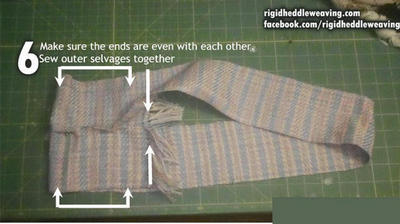 Ensure the ends are even and sew the selvages together like you did with the other side.