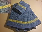 Waffle Weave Towels with Accent and Rolled Hems
